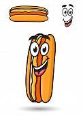 Hotdog with a happy goofy smile