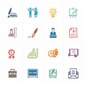 School & Education Icons Set 4 - Colored Series.eps