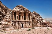 stock photo of petra jordan  - Ancient temple in Petra - JPG