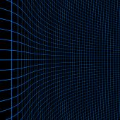 Background With Blue Curvy Grid