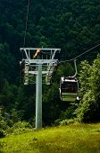 The cable car in the Moravian Karst.