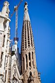 Barcelona. Fragment Of Temple Of Sagrada Familia. Facade Of Nativity
