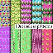 10 Model Seamless Patterns