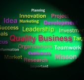 Quality Business Words Means Excellent Company Reputation