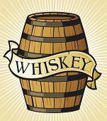 foto of whiskey  - whiskey label vector illustration on white background - JPG