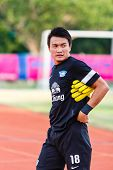 Sisaket Thailand-may 28: Sinthaweechai Hathairattanakool Of Chonburi Fc. In Action During A Training
