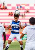 Sisaket Thailand-may 28: Surawich Lokawit Of Chonburi Fc. In Action During A Training Ahead Thai Pre