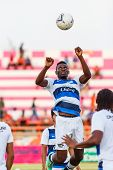 Sisaket Thailand-may 28: Fode Bangaly Diakite Of Chonburi Fc. In Action During A Training Ahead Thai