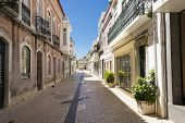 foto of faro  - The street in historic center of Faro Portugal.