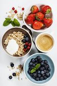 foto of yogurt  - Healthy breakfast  - JPG