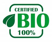 Green bio label or sign