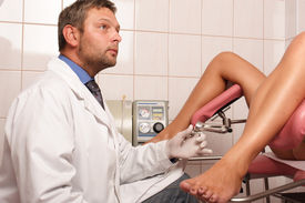 pic of gynecological exam  - Gyneacologist performing patient - JPG