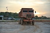 Old lorry at the construction site