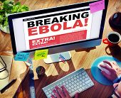 Digital Online Breaking News Ebola Crisis Concept