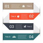 Infographic, diagram, presentation 4 options