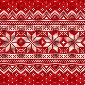 Seamless Knitted Pattern. Wool Sweater Design