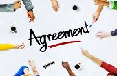 Multi-Ethnic Group of People and Agreement Concept