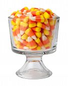 Candy Corn In A Dessert Glass