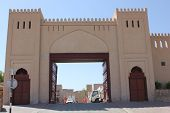 Nizwa Fort Castle entrance gate