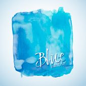 Blue Watercolor Square, Vector Design Element
