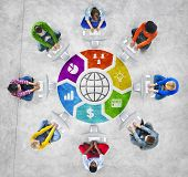 People Social Networking and Global Network Concept