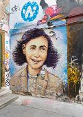 Anne Frank Mural In Berlin