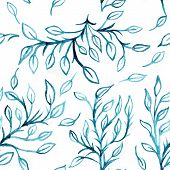 Watercolor Aquarelle Leaves And Branches