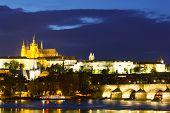 Prague Night Cityscape