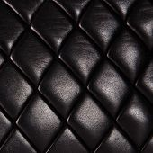 Black Quilted  Natural Leather