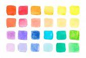 picture of paint palette  - Watercolor paints - JPG