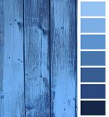 wooden plank blue color selection