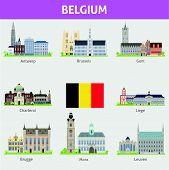 Belgium. Symbols of cities