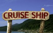 Cruise Chip sign with a beach on background
