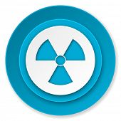 radiation icon, atom sign