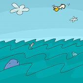 Cartoon Ocean Background