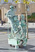 Live Statue In La Rambla, Barcelona, Spain