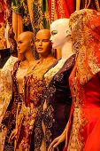 picture of dress mannequin  - Mannequins in wedding dress store near the Grand Bazaar in Istanbul Turkey - JPG