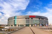 GDANSK, POLAND - NOVEMBER 5, 2014: Ergo Arena building on the boundary of two cities - Gdansk and Sopot in Poland. Ergo Arena has a capacity up to 15,000 people for sports events and concerts.