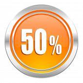 50 percent icon, sale sign