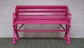Pink Bench On The Floor