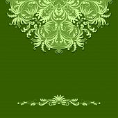 Vector Paper Pattern On Green Background