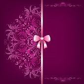 Elegant Background And Ornament With Bow