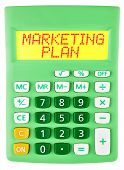 Calculator With Marketing Plan  Isolated