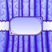 Invitation Card On Curtain With Pleats