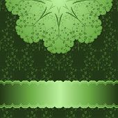 Vector Pattern In Green Background