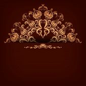 Elegant Background With Lace Ornament