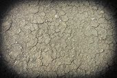 Close up of Dirty Cracked clay ground