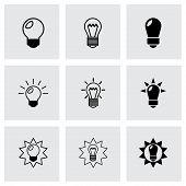 Vector black bulbs icon set