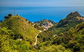 Three Hills Forming Taormina, Sicily