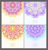 Set of geometric creative banners